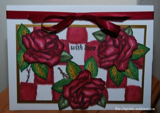 Rose plate card