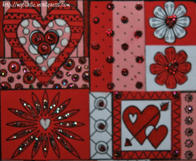 Stickled hearts