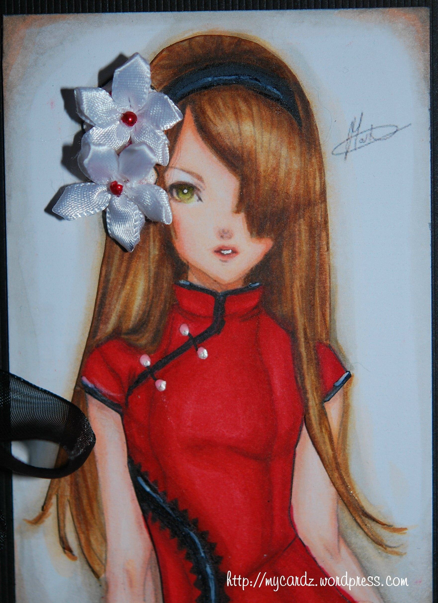 Copic Coloring of Brunette Hair – My Cardz ~ My Passion . . .