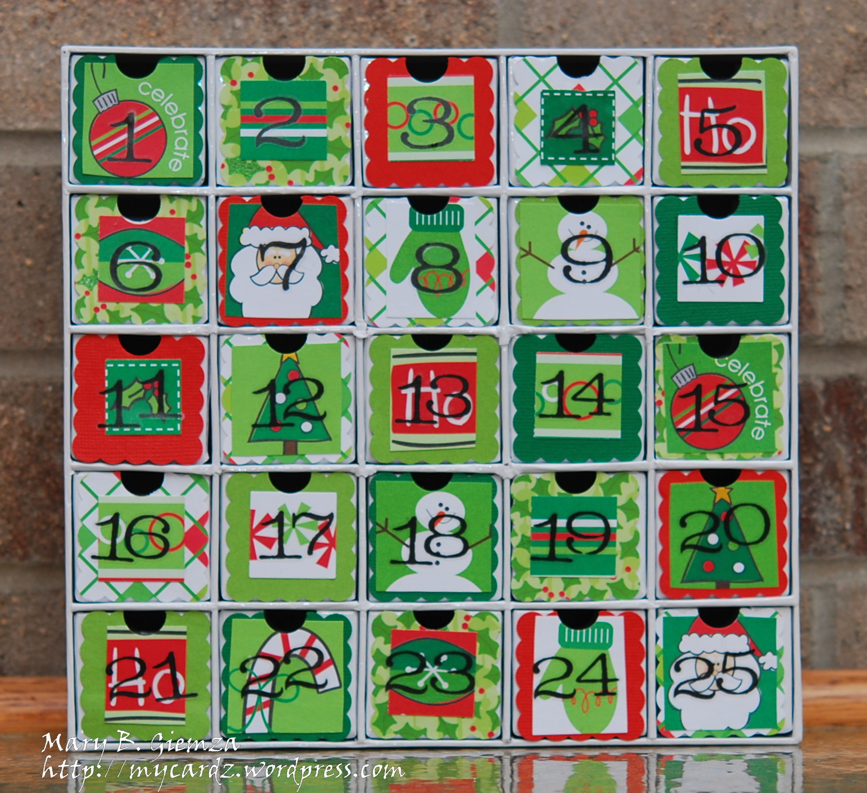 Christmas Countdown Calendar With Candy