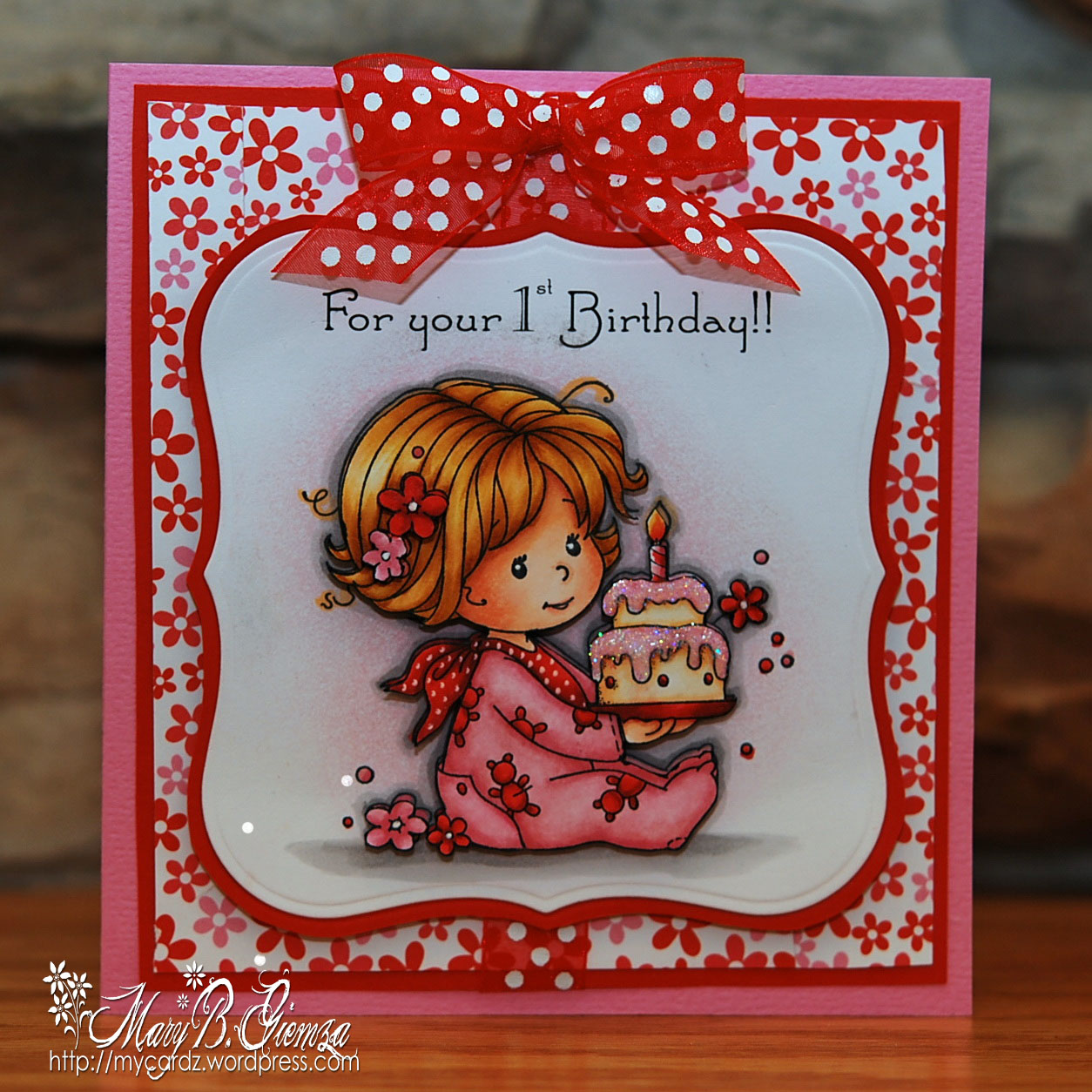 Happy 1st birthday card magnolia licious 1st wee wednesday my birthday baby girl image dsc8109a bookmarktalkfo Images