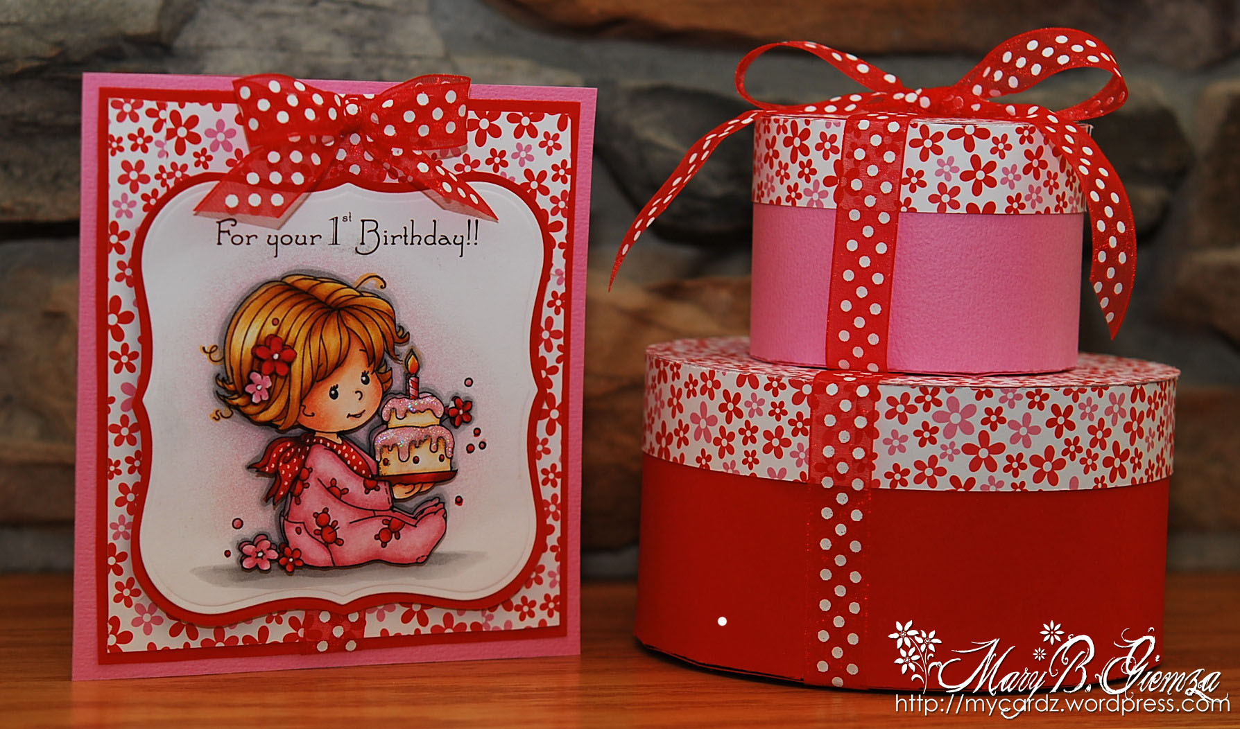 Happy 1st Birthday Card Magnolia Licious 1st Wee Wednesday My